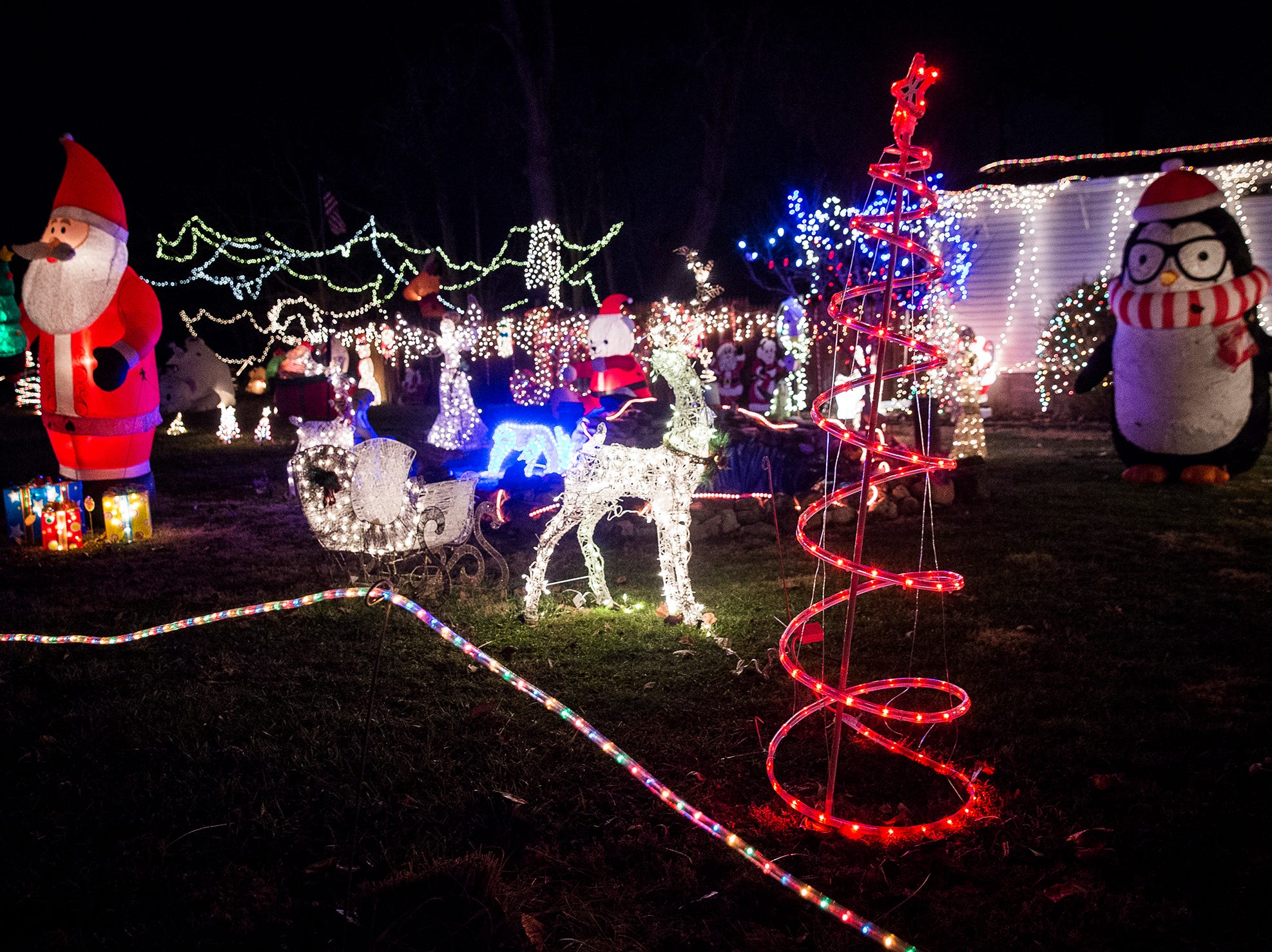 Christmas lights at a home on W. 16th Street in Muncie.