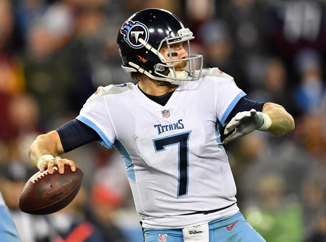 Titans quarterback Blaine Gabbert was 7-of-11 for 101 yards Saturday.