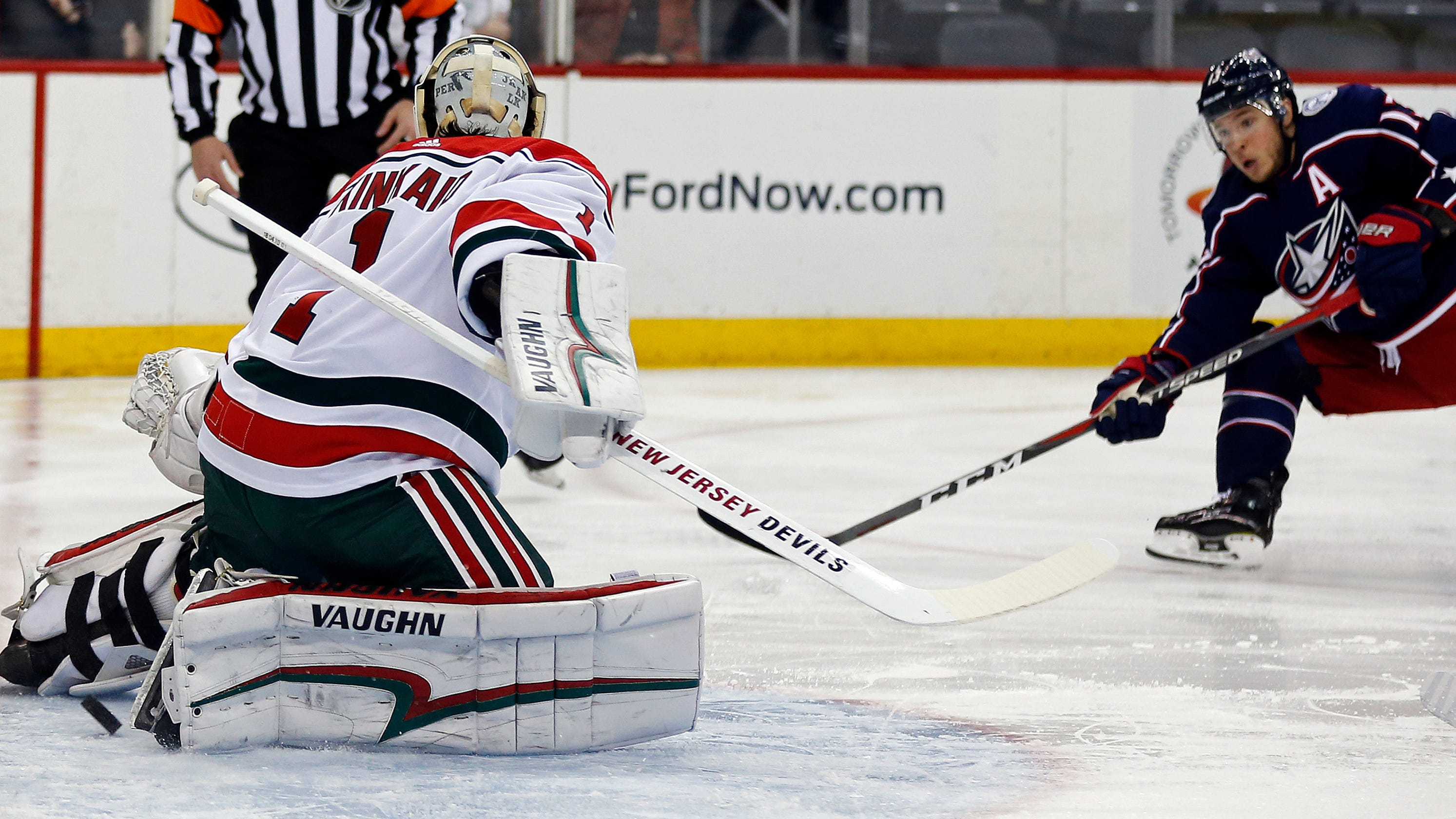 Devils  goaltending problems exposed in 3-0 loss to Blue Jackets bde09f34d