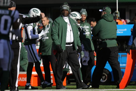Jets Head Coach, Todd Bowles watches the game during the first half.  Sunday, December 23, 2018