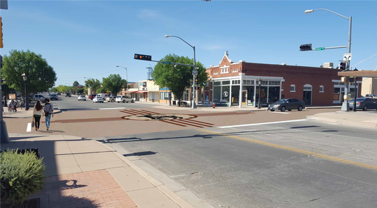 Perspective view point of Deming MainStreet's future project (to be located at the intersection of Gold and Spruce).