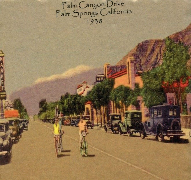 Palm Canyon Drive in 1938.
