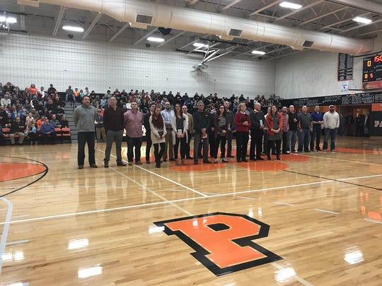 Palmyra honored its 2018 Hall of Fame class prior to the Cougar girls basketball team's win over Cedar Crest on Saturday night.