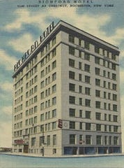 The historic Richford Hotel at Chestnut and Elm streets, shown here in this undated image, opened in 1915.