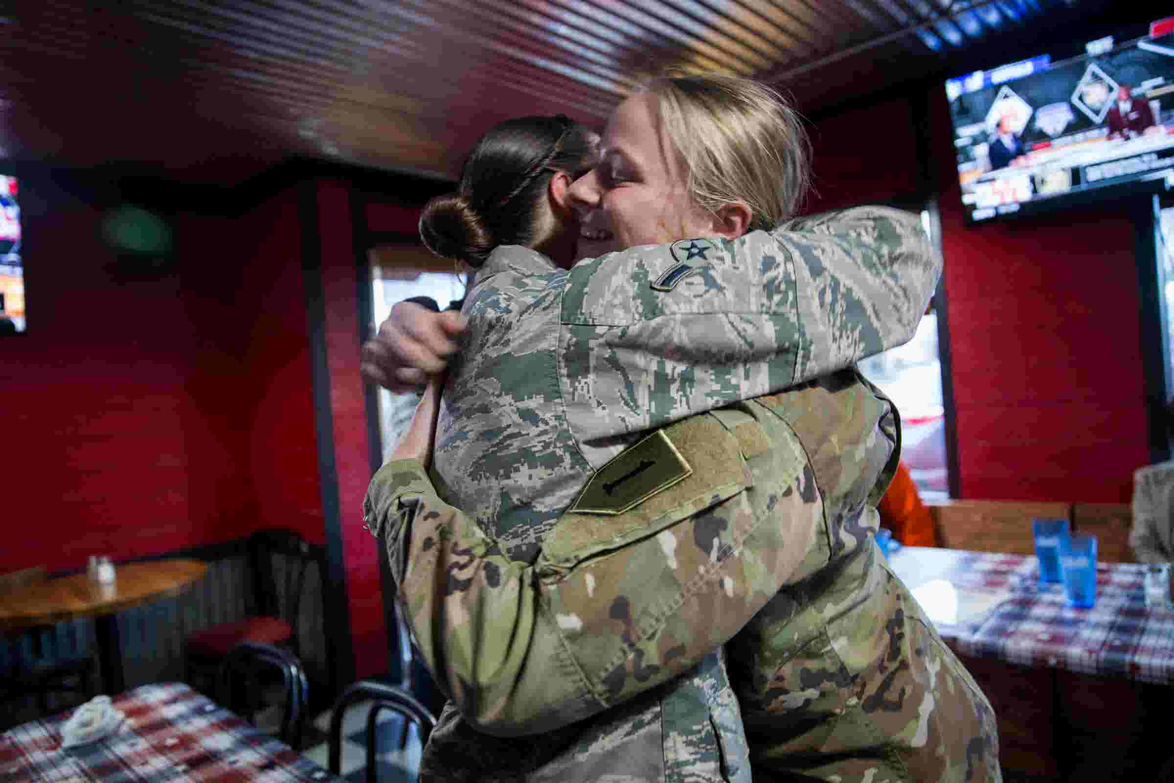 a970ac254 Army daughter pops out of Christmas present delivered to parents  Stayton  restaurant
