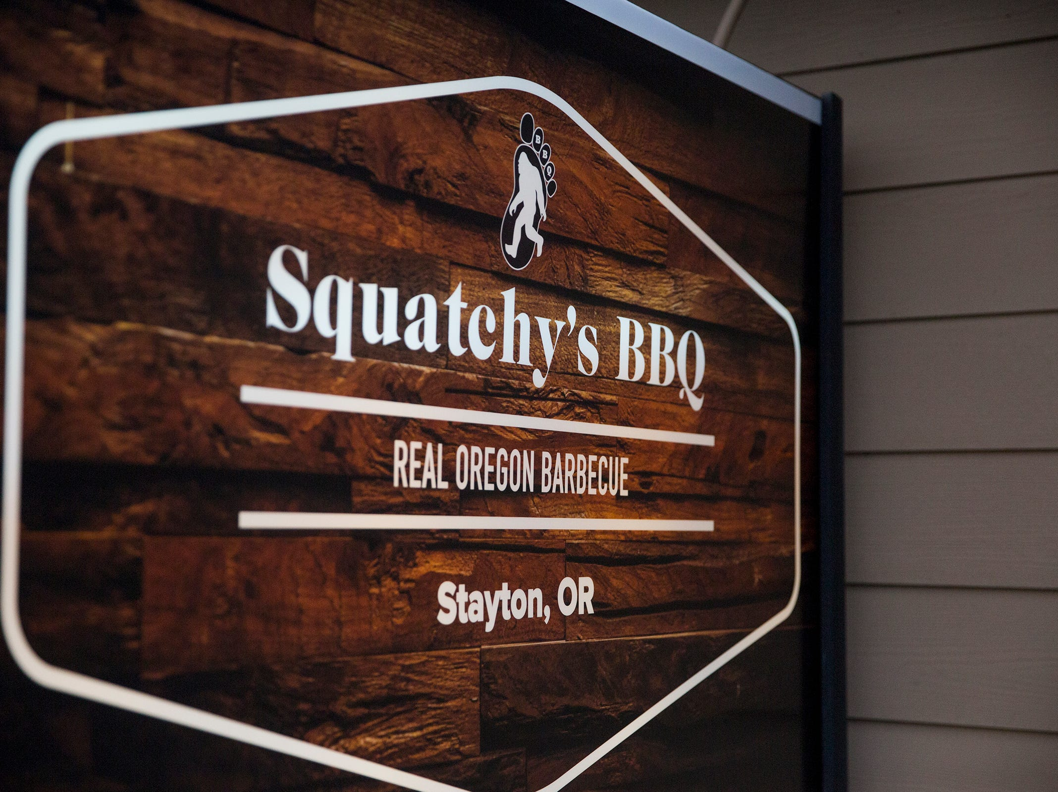Squatchy's BBQ in Stayton on Saturday, Dec. 22, 2018. The restaurant opened in September after the family's food cart burned down earlier this year.