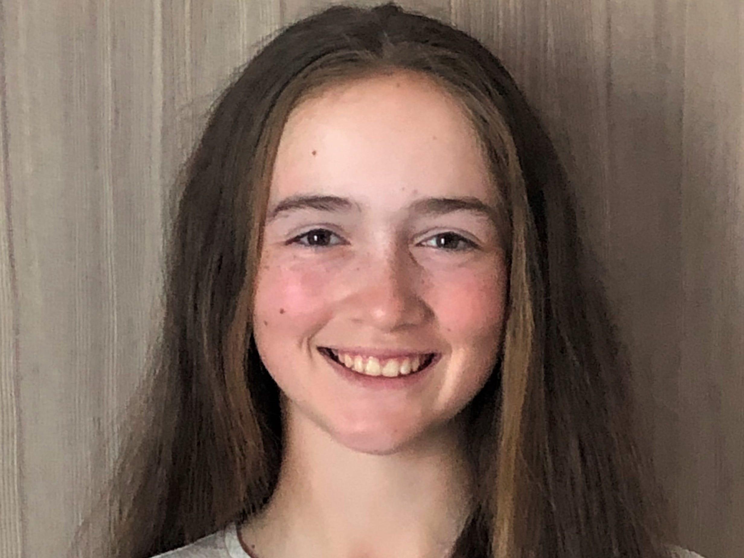 Community Christian eighth-grader Sabree Lefebvre