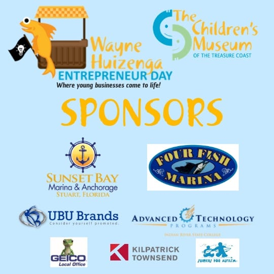 The presenting sponsors, Sunset Bay Marina and Four Fish Marina, and prize package sponsors, UBU Brands and Advanced Technologies Program at Indian River State College, and others made the inaugural Wayne Huizenga Entrepreneur Day possible.
