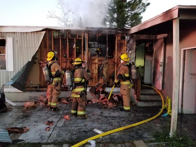 St. Lucie County firefighters responded to a residential fire Sunday morning in the 400 block of Silverstream Circle north of Fort Pierce.