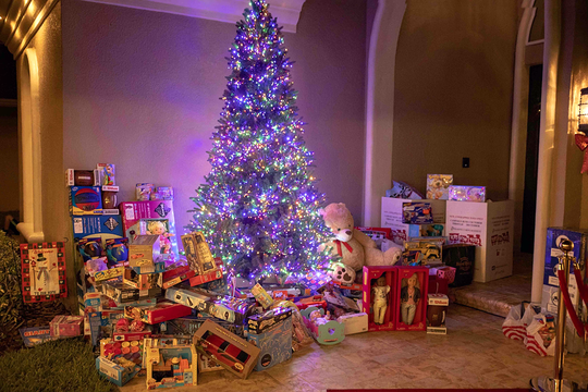Tim and Brittany Holdy hosted a toy drive at their home in The Pines subdivision in Jensen Beach, where neigbors donated 273 toys for the United Way of Martin County White Doves Holiday Project and Marine Toys for Tots Foundation.