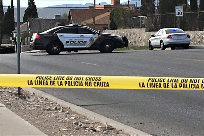 El Paso police investigate a Sunday morning pedestrian, motorcycle collision on Alabama Street.