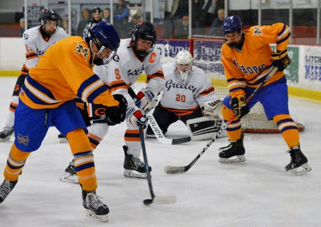 Greeley defeated Mahopac 6-5 on Dec. 22, 2018 at Brewster Ice Arena.