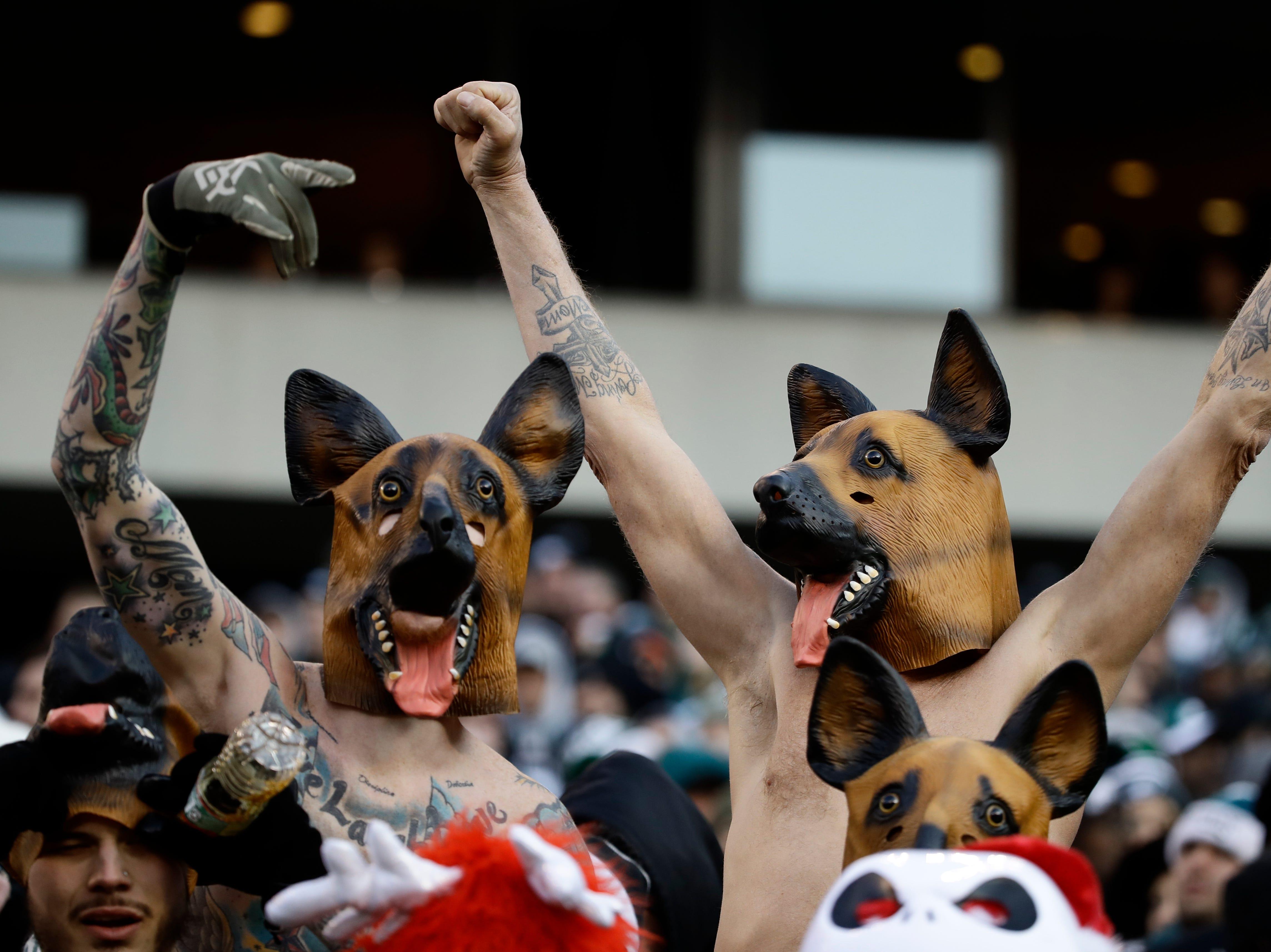 Philadelphia Eagles' fans cheer during the second half of an NFL football game against the Houston Texans, Sunday, Dec. 23, 2018, in Philadelphia. (AP Photo/Matt Rourke)