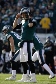 Philadelphia Eagles' Nick Foles in action during the first half of an NFL football game against the Houston Texans, Sunday, Dec. 23, 2018, in Philadelphia. (AP Photo/Matt Rourke)