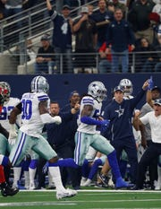 Dallas Cowboys linebacker Jaylon Smith against the Tampa Bay Buccaneers during an NFL game in Arlington, Texas Sunday, Dec. 23, 2018. (AP Photo/Andy Jacobsohn)