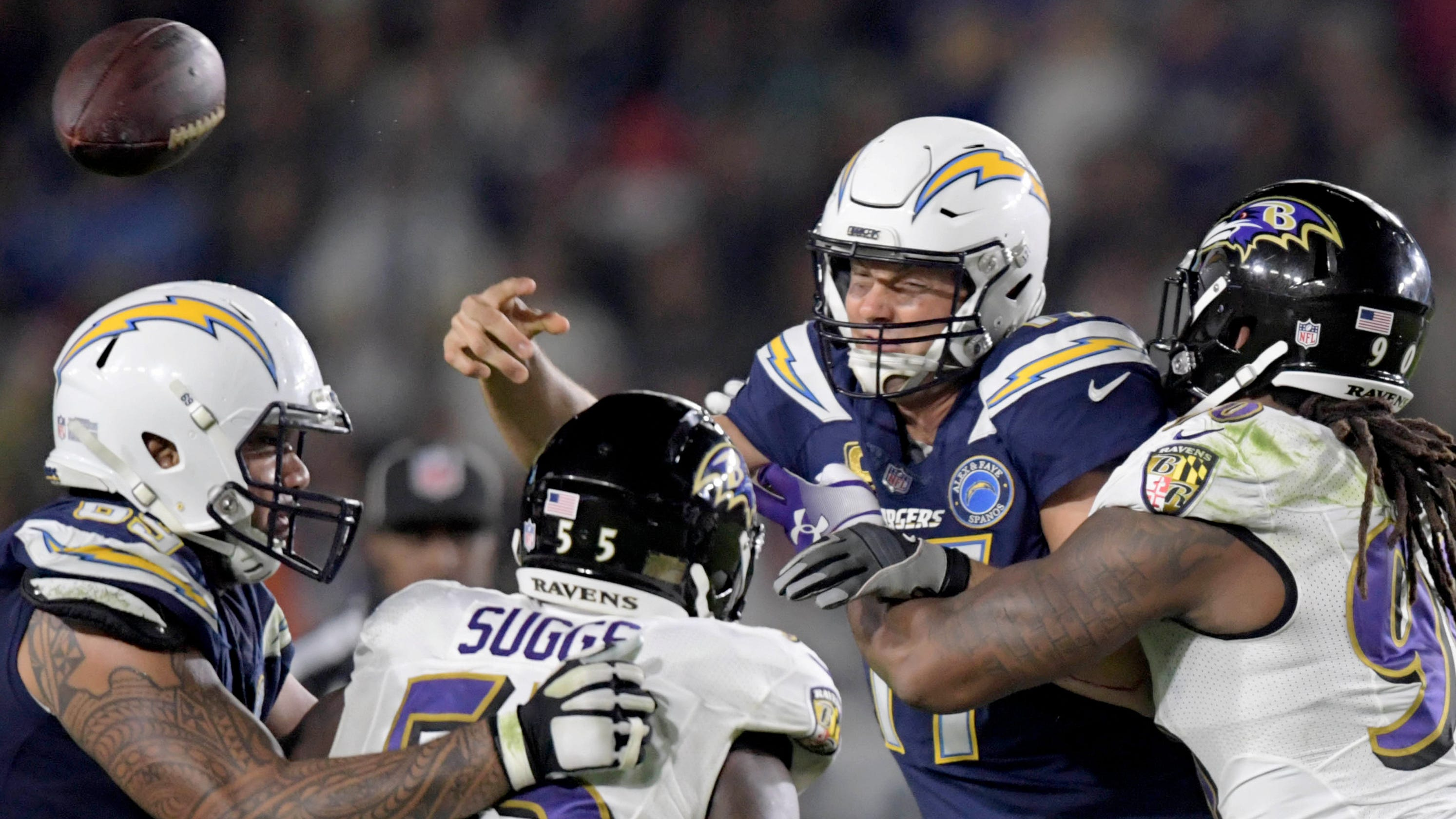 9905242bc08 NFL playoff picture as Week 16 begins: Ravens deal Chargers' home-field  hopes blow; Browns out
