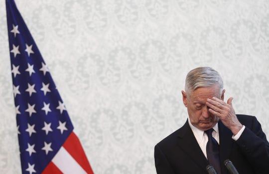 Defense Secretary James Mattis on Sept. 27, 2017.