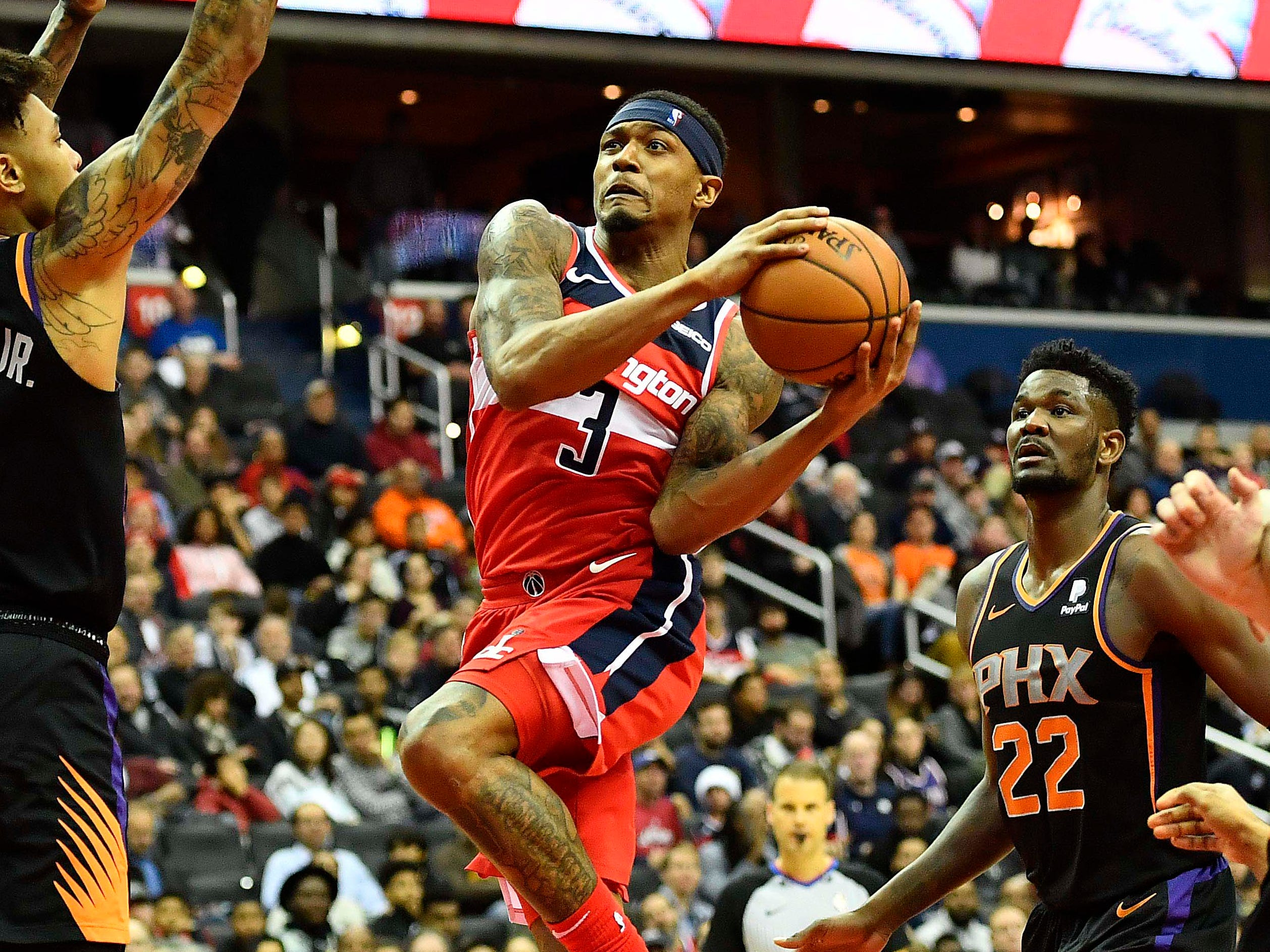 33. Bradley Beal, Wizards (Dec. 22): 40 points, 15 assists, 11 rebounds in 149-146 win over Suns.