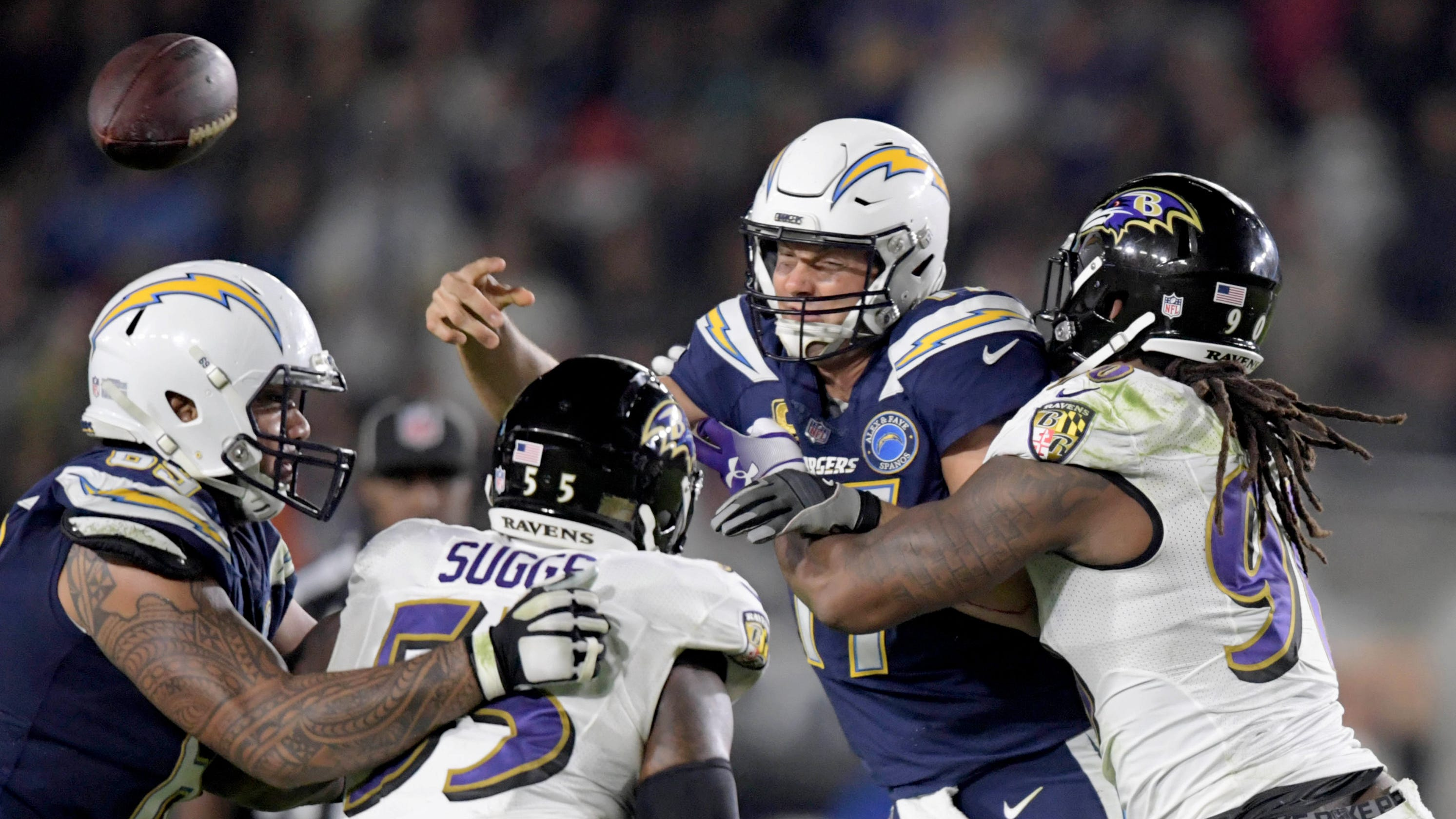 901f282b6 Baltimore Ravens punish Los Angeles Chargers to boost playoff hopes