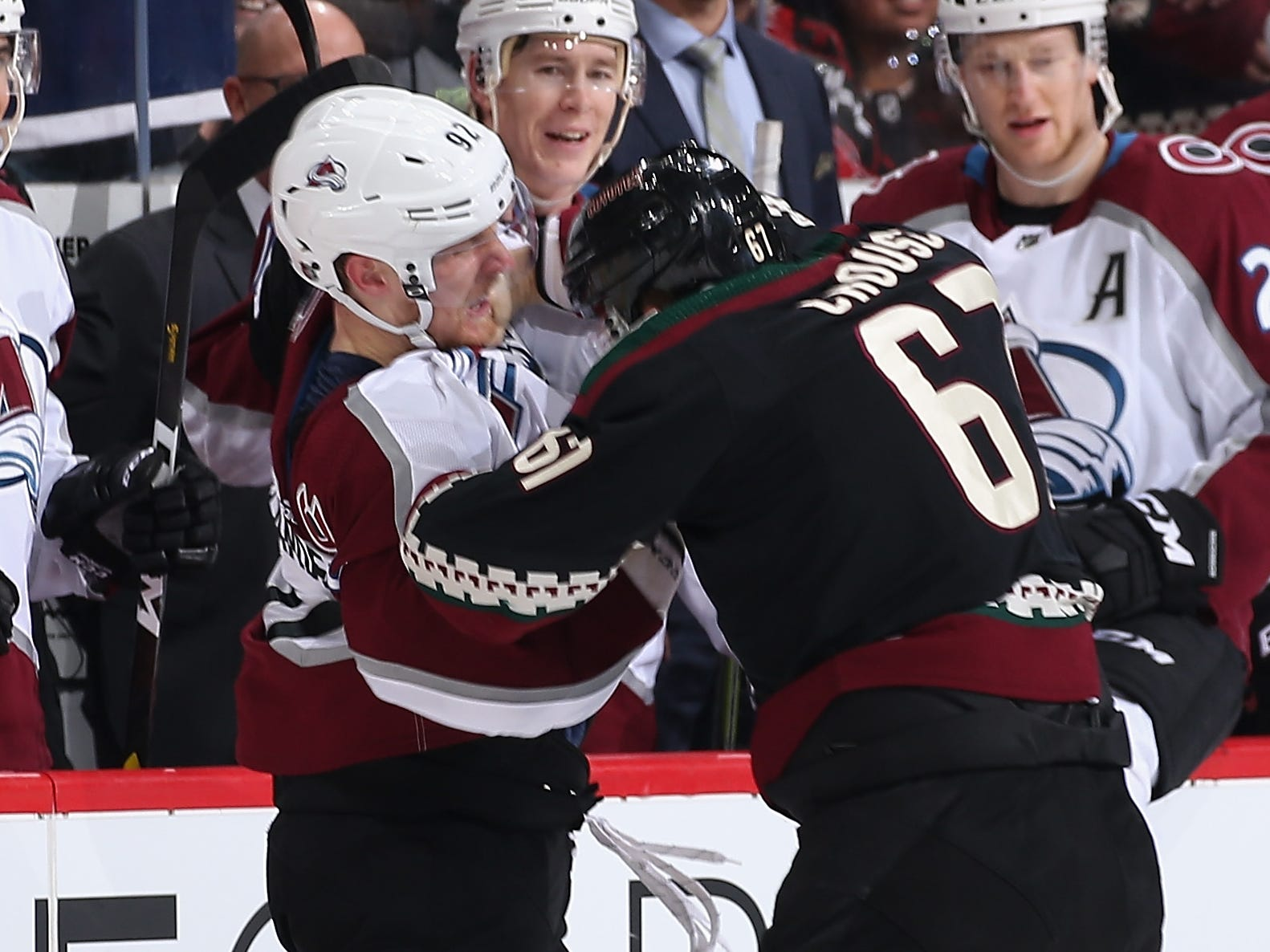 Dec. 22:  Colorado Avalanche's Gabriel Landeskog vs. Arizona Coyotes' Lawson Crouse