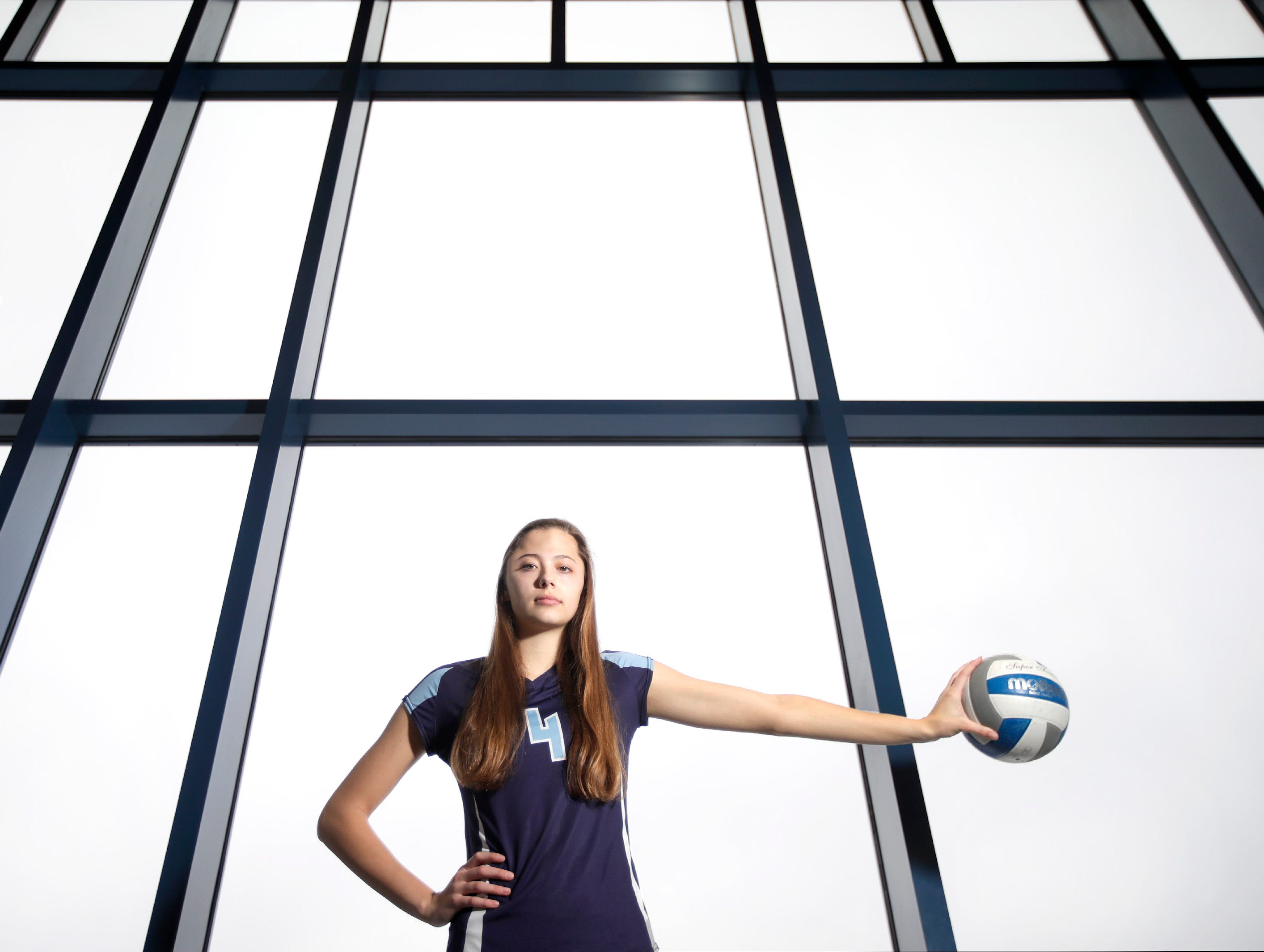 Hannah Vanden Berg, a senior at Little Chute High School, is the 2018 volleyball player of the year Wednesday, Dec. 19, 2018, Little Chute, Wis.Danny Damiani/USA TODAY NETWORK-Wisconsin