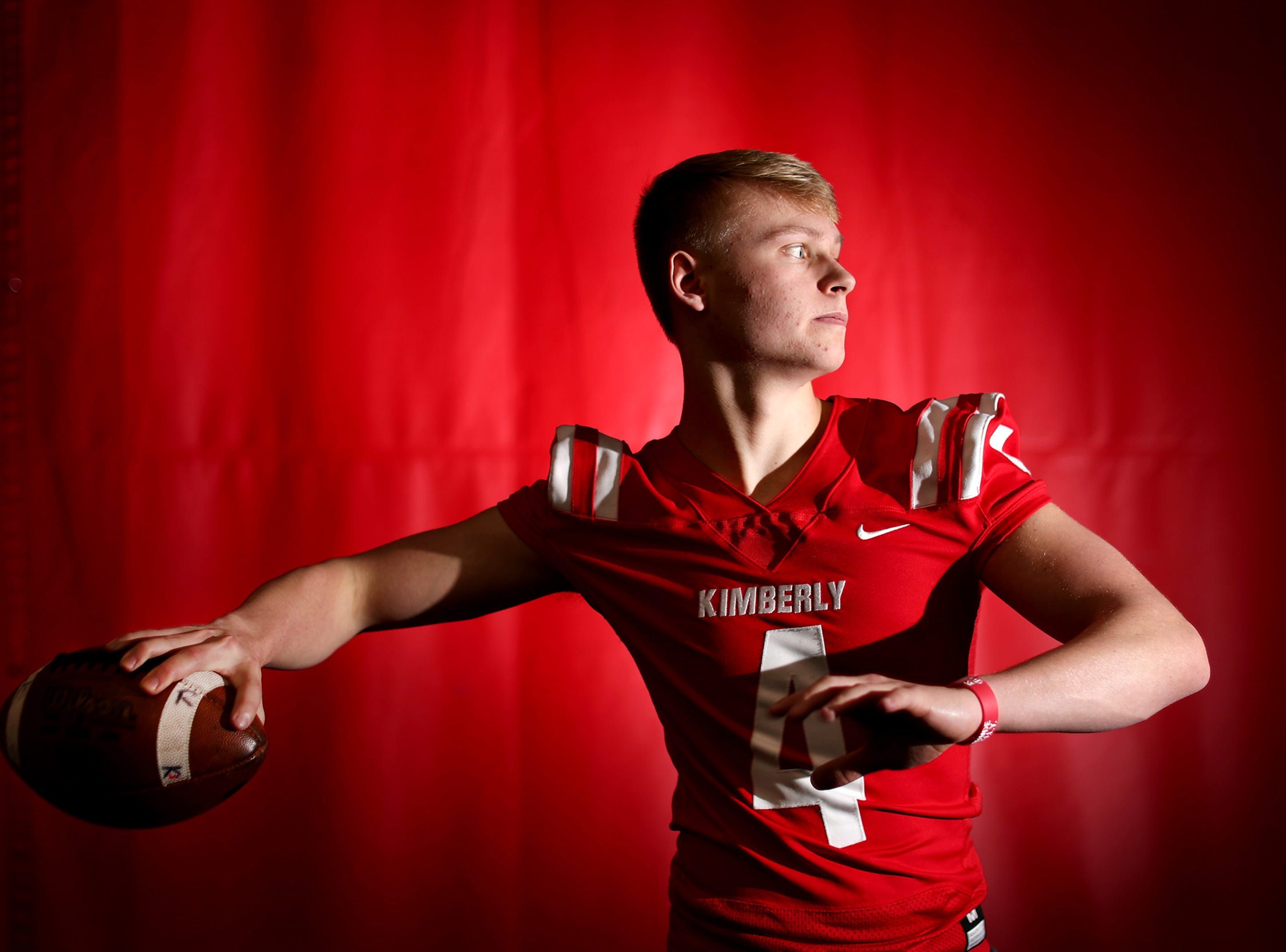 Cody Staerkel, of Kimberly, is the Post-Crescent's football player of the year Tuesday, Dec. 11, 2018, in Kimberly, Wis.Danny Damiani/USA TODAY NETWORK-Wisconsin