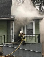 A fire broke out Monday in this Howell home on Stuart Street.