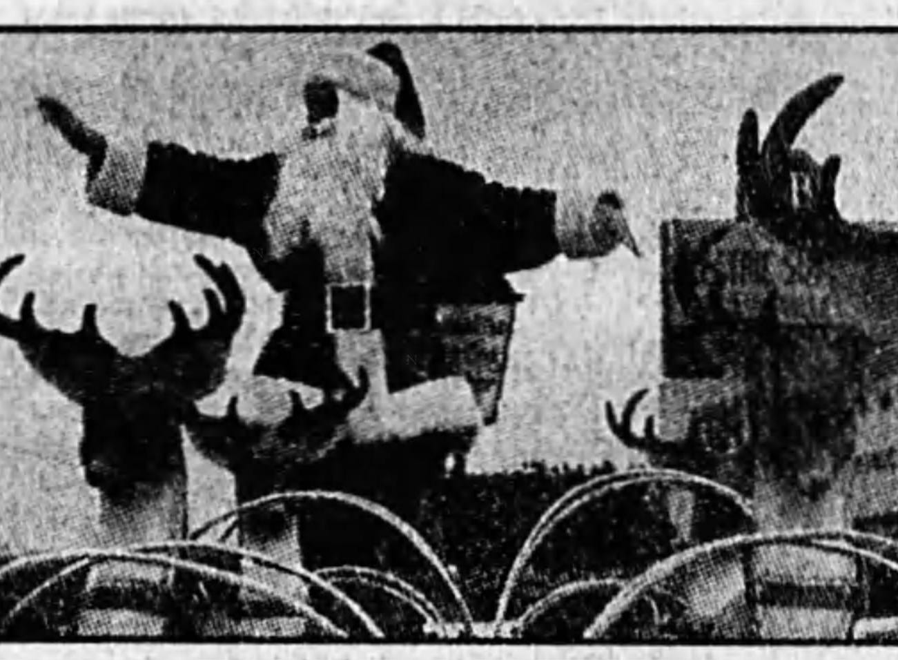 Santa Claus has always been a big part of Asheville's Christmas Parade, as highlighted in the Citizen Times in November 1996.