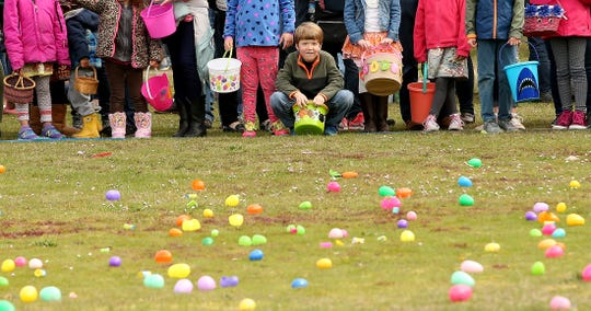 Easter egg hunts are full of fun as children dash to find all the colorful treasures.