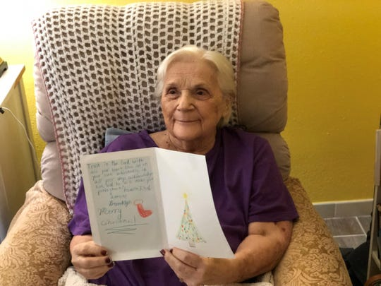 Children across Brevard recently channeled their creativity to boost the spirits of Hospice of Health First patients. Holiday hospice cards. Shirley Bortnick was one of the recipients.