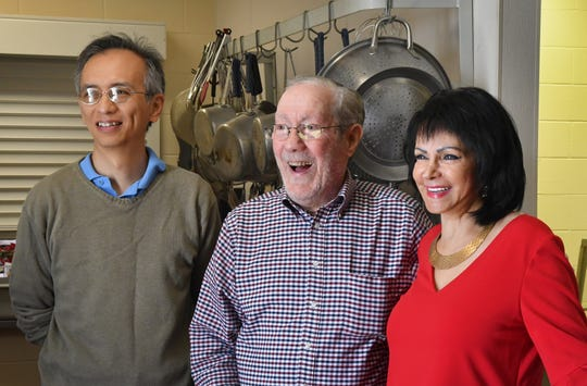 The Salvation Army on Hickory Street in Melbourne will be serving a Christmas Day meal, and among the volunteers participating are people from various faiths, including Christian, Jewish, and Muslim, coming together for a common cause to help the needy. Among the volunteers is Philip Chan, Bob Barnes, and Malak Hammad.