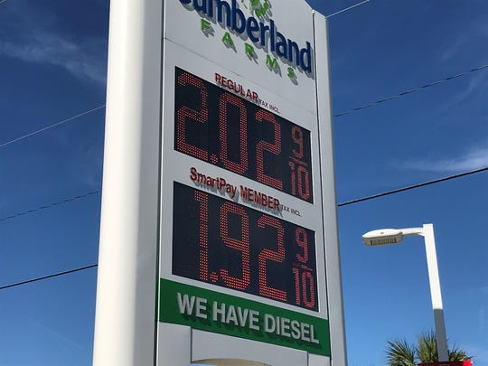 Gasoline is dipping below $2 a gallon in parts of Brevard County