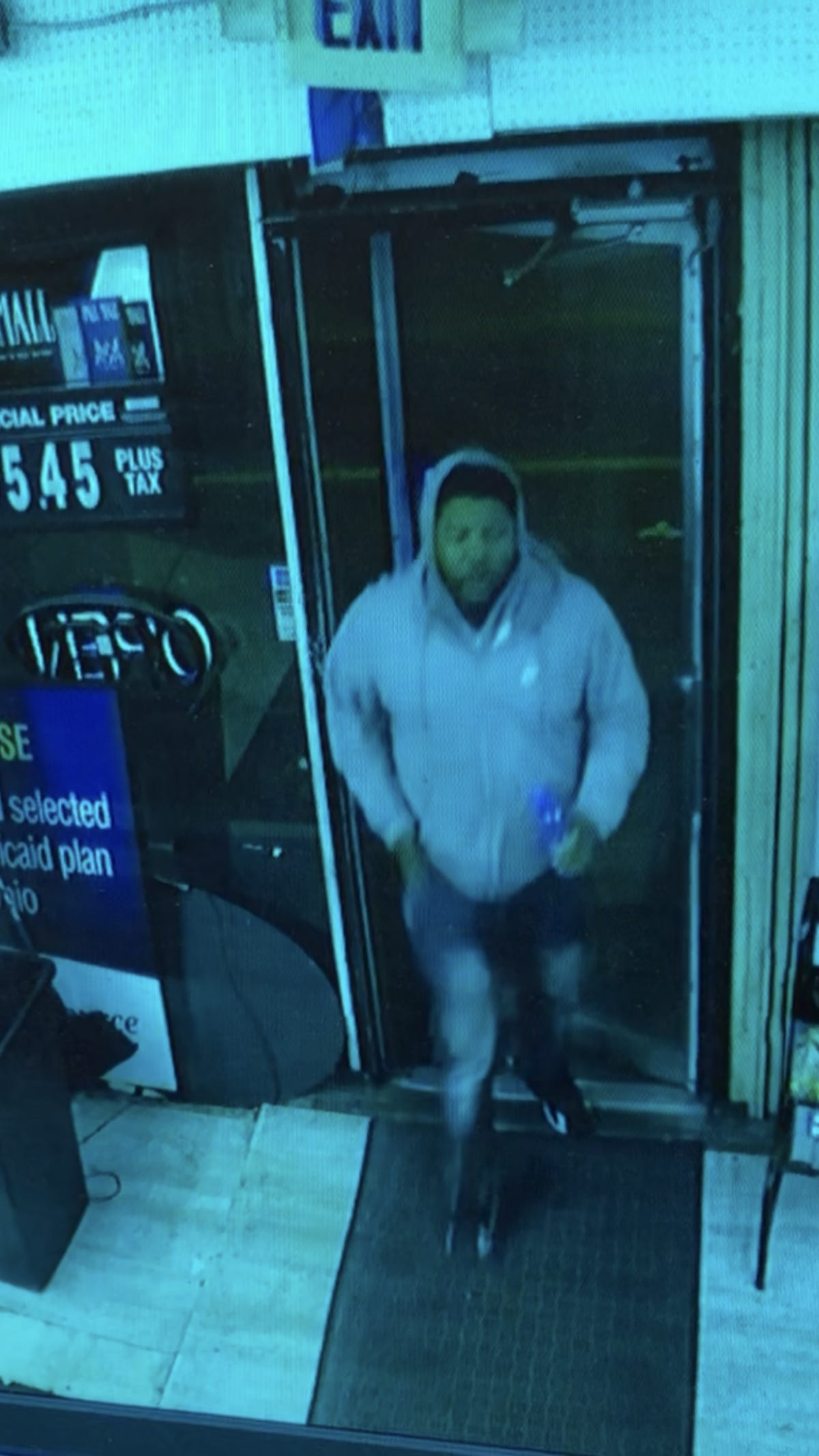 Suspect photo released after two people shot Saturday in