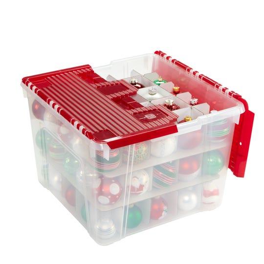 The Iris Wing-Lid Ornament Storage Box.