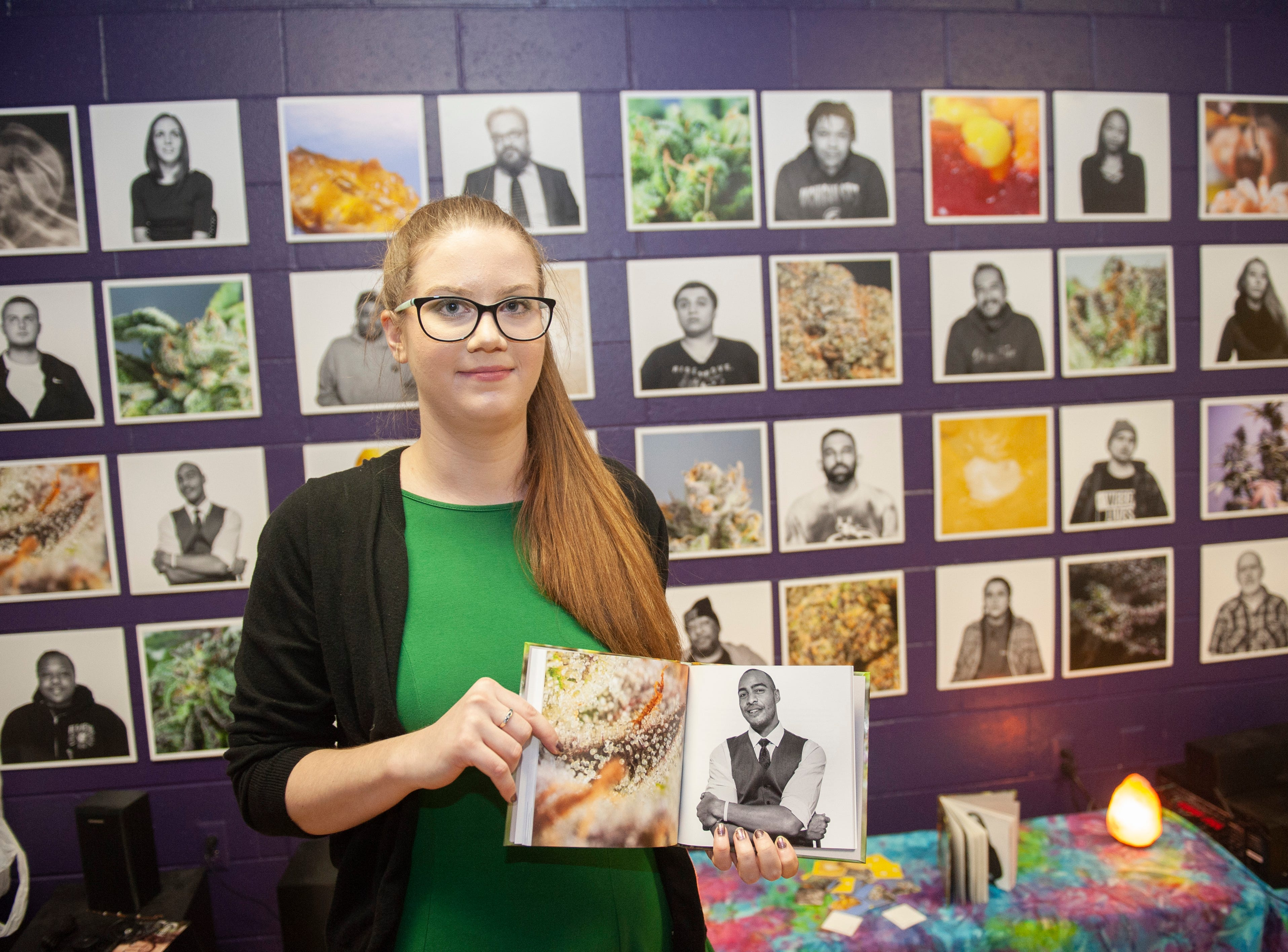 """Photographer Erin Short of Detroit was the featured artist at """"The Art of Cannabis"""" art exhibition and tasting event. The 2018 College for Creative Studies graduate showed her senior thesis project exploring the lives of Michigan medical marijuana patients and their preferred methods of using cannabis."""