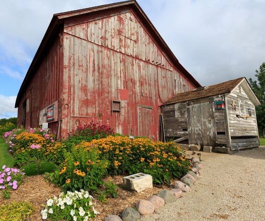 It's difficult to miss the traditional red barn at W9827 Fremont Road, the home of David and Deborah Deaver, but there is much more to this Town of Eldorado property.