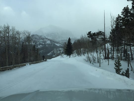 This photo of Bear Lake Road was taken on Monday, Dec. 24.