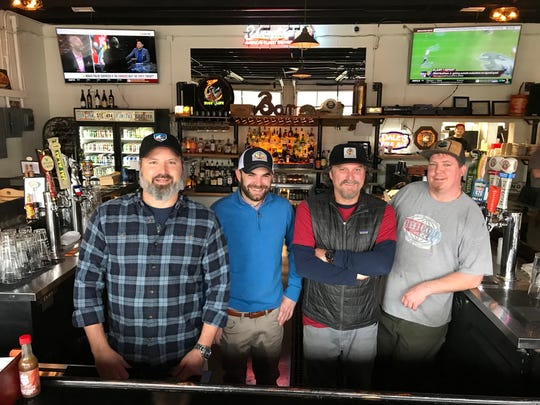 Operating partners of Chicora Alley, from left Greg Gimpel, Clay Hall, Ben Dixon and Corey Fulmar, in the newly opened location in Travelers Rest.