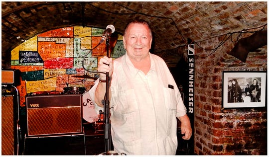 Robert Lee 'Chan' Romero performs in the Cavern in Liverpool, England in 2018, where The Beatles played in their early years.