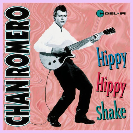 A 'Hippy Hippy Shake' album cover.
