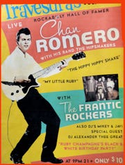 A poster from a Robert Lee 'Chan' Romero concert.