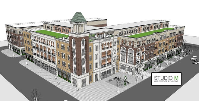 The land Carmel plans to acquire from PNC Bank is expected to be turned into a mixed-use building.