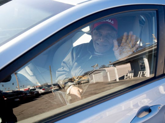 """Glenn """"Lefty"""" Miller behind the wheel of his new vehicle on on Monday, December 24, 2018."""