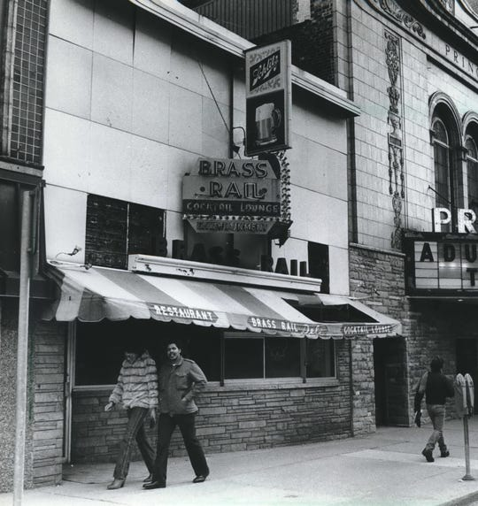 The Brass Rail, a strip club on North 3rd Street, closed down in 1982. (Next door is the Princess Theatre, Milwaukee's last X-rated movie house.)