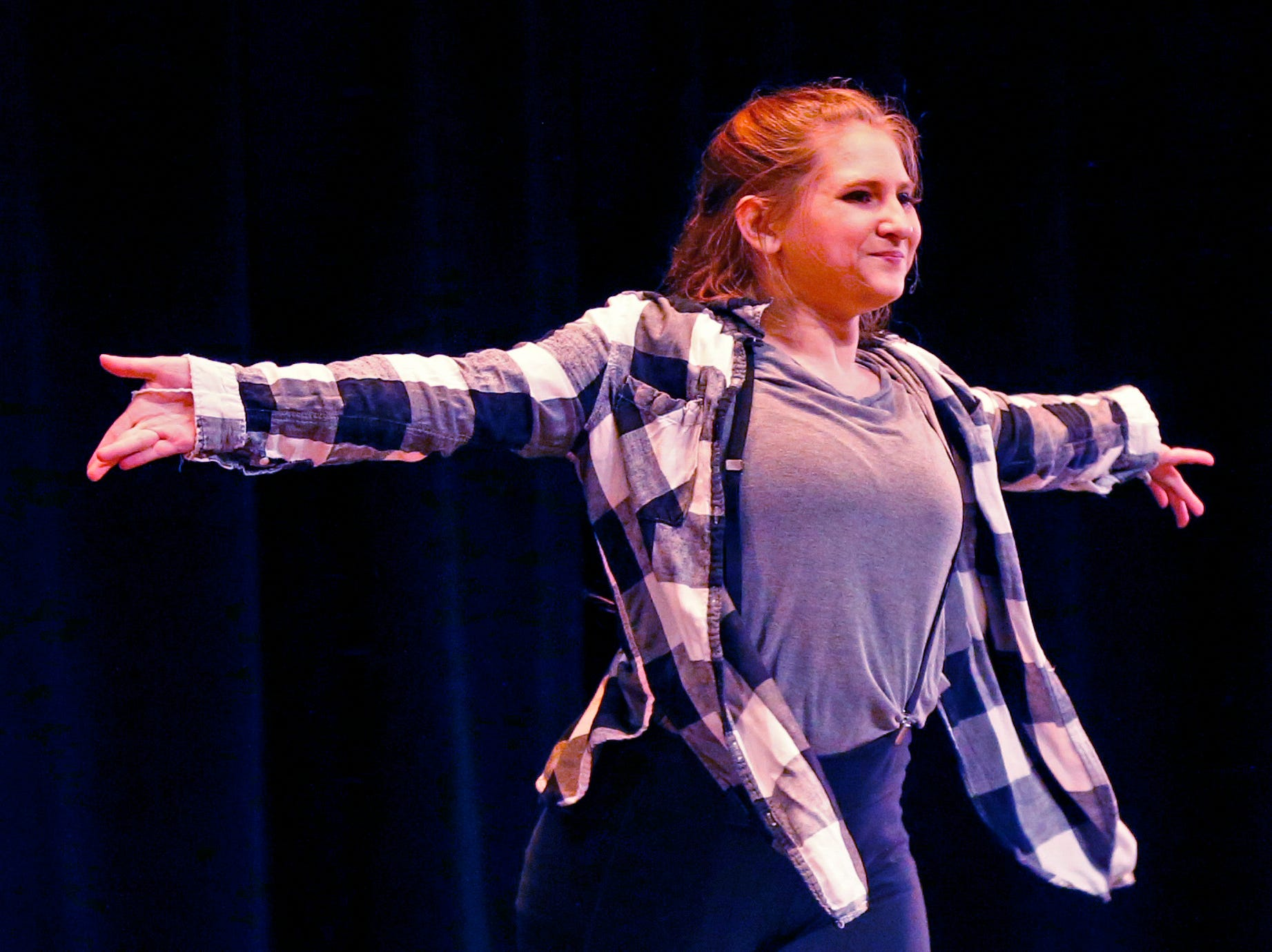 Taylor Bulanek performs a dance number during the 2018 Rocket Review to benefit the South Milwaukee High School Theatre Company at the Performing Arts Center on Dec. 20.