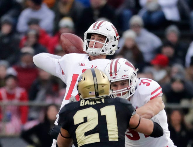 Wisconsin backup quarterback Jack Coan had his best game of the season in a victory against Purdue on Nov. 17.