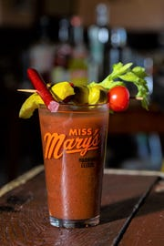 Miss Mary's Bloody Mary mix creator Ryan Timm likes to keep the cocktail garnish (relatively) simple.