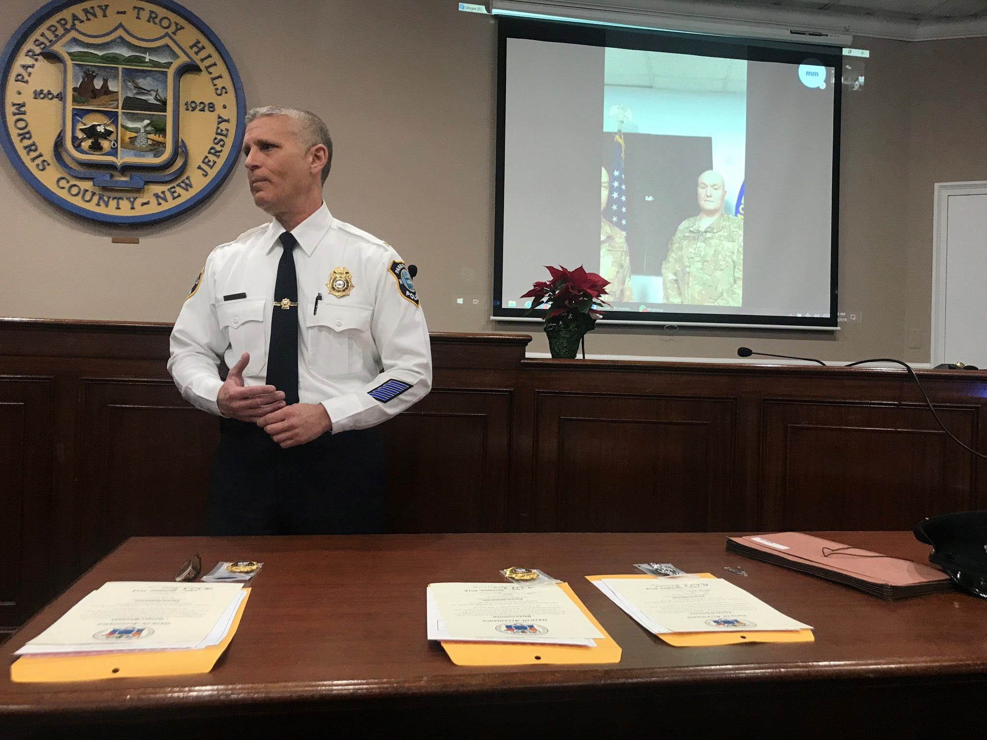 Parsippany police promotion ceremony Dec. 14, 2018