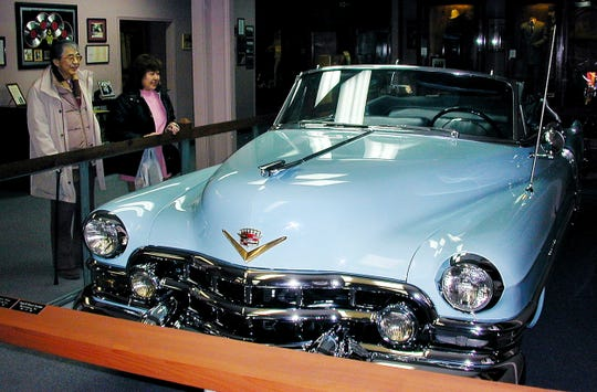 Charles Carr was driving Hank Williams in this Cadillac (shown at the Hank Williams Museum in Montgomery, Alabama) when Williams died Jan. 1, 1953, as they were on their way to a concert in Canton, Ohio.
