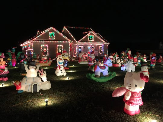 A must-see holiday lights display at 936 Goslin Branch Road in Burns, just outside of Fairview.